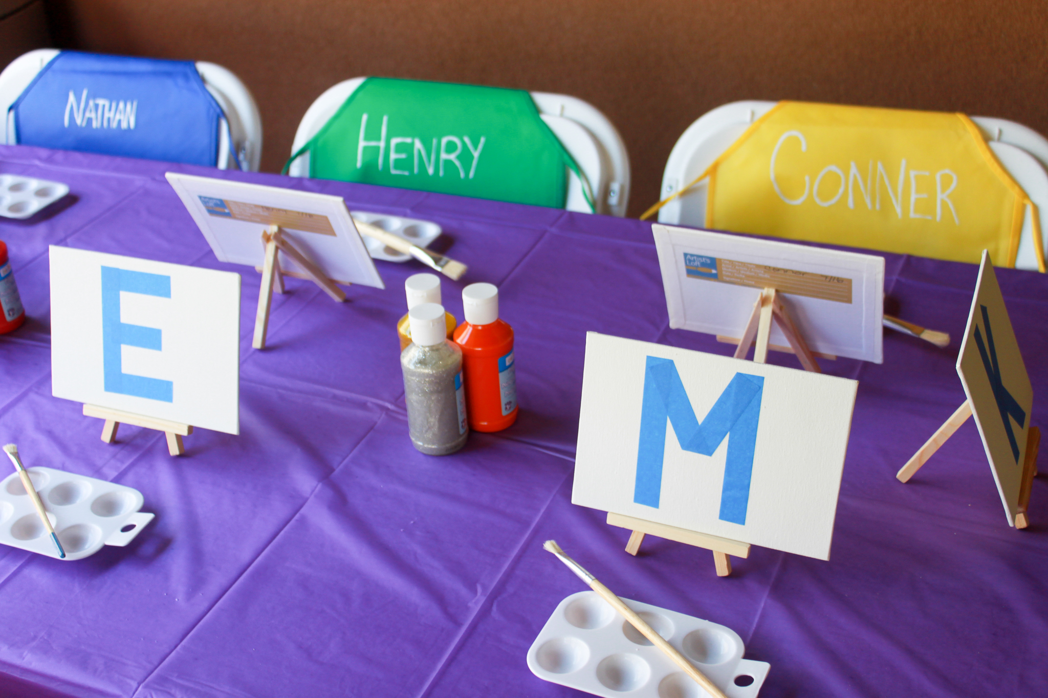 Kids Art Party - OhSoFancyParty.com