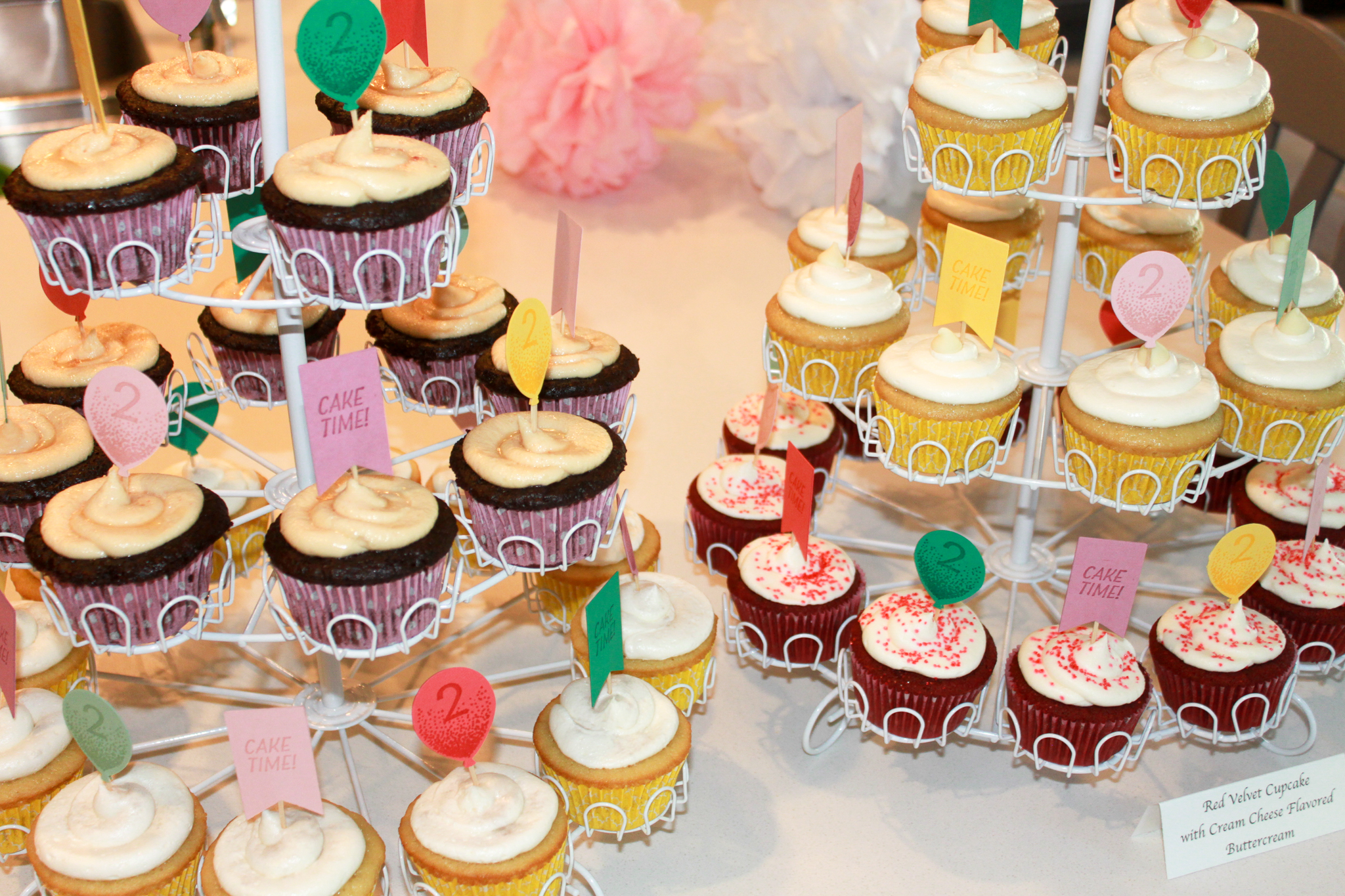 Pastel Cupcake Toppers - OhSoFancyParty.com