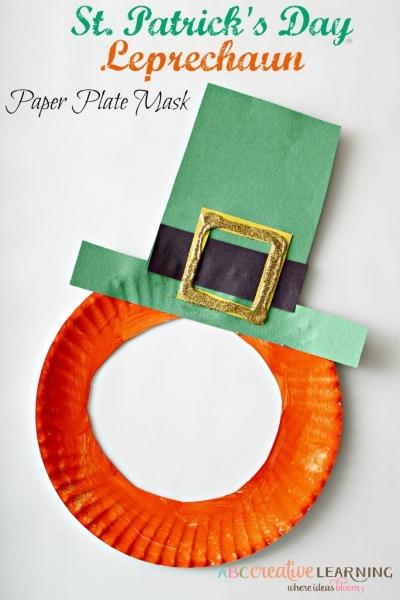 abccreativelearning.com - st-patricks-day-leprechaun-paper-plate-mask/