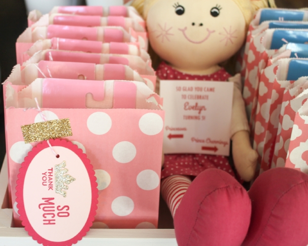 Pretty Pink Princess favor bags and new favor tags!