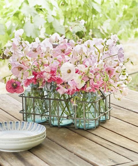 www.countryliving.com - mason jar floral centerpiece