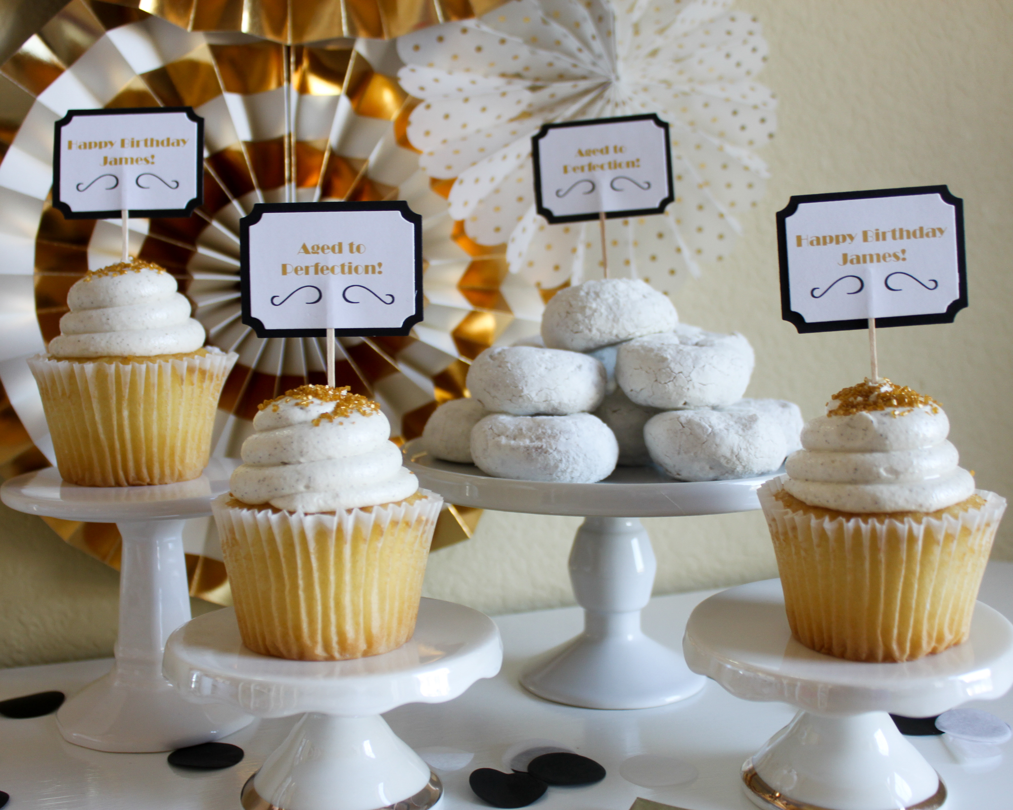 Aged To Perfection Cupcake Toppers - OhSoFancyParty
