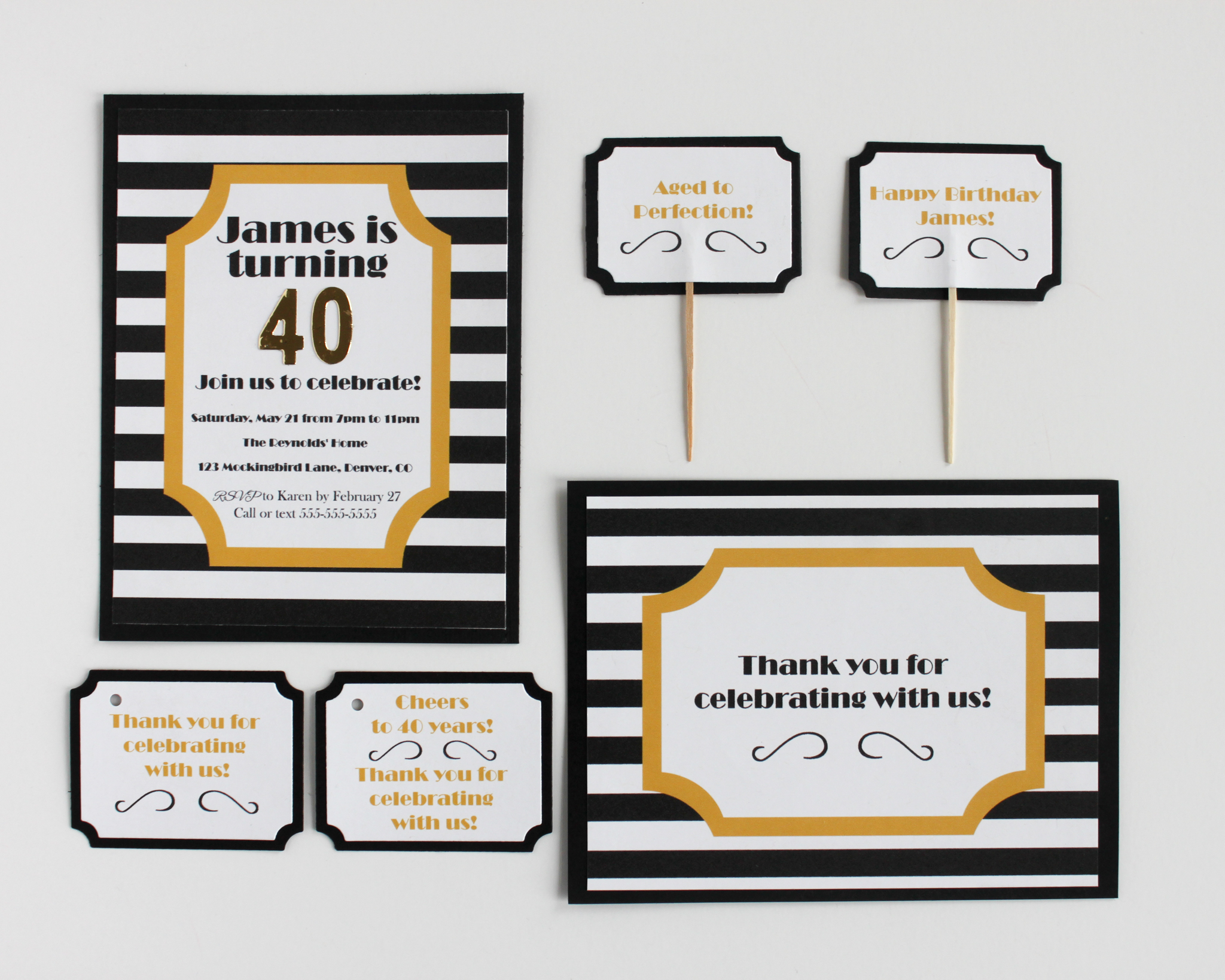 Aged To Perfection Pinch Paper Package - OhSoFancyParty