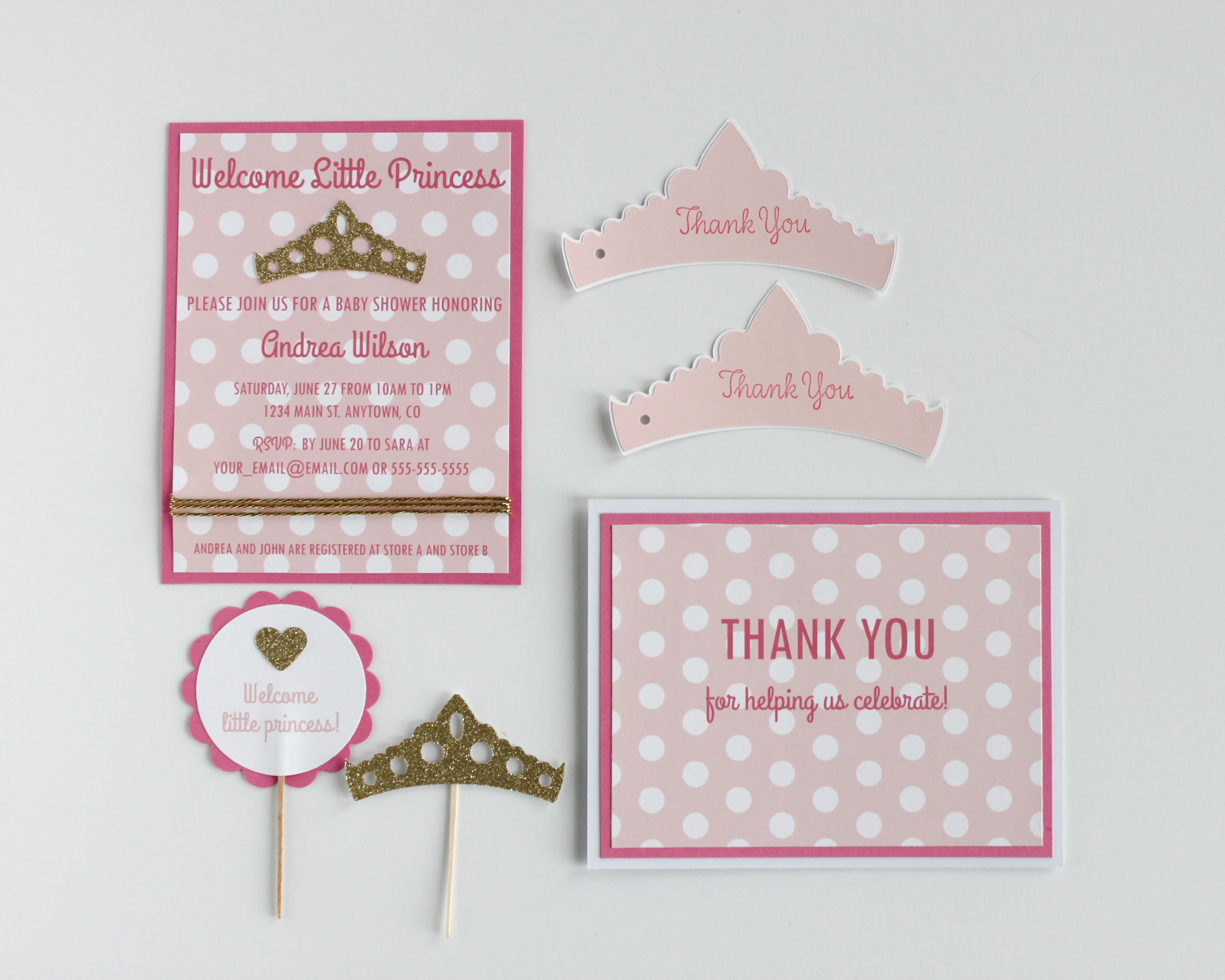 Welcome Little Princess Paper - OhSoFancyParty