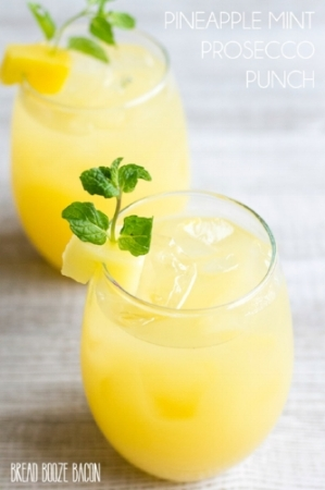 http://breadboozebacon.com - pineapple-mint-prosecco-punch/