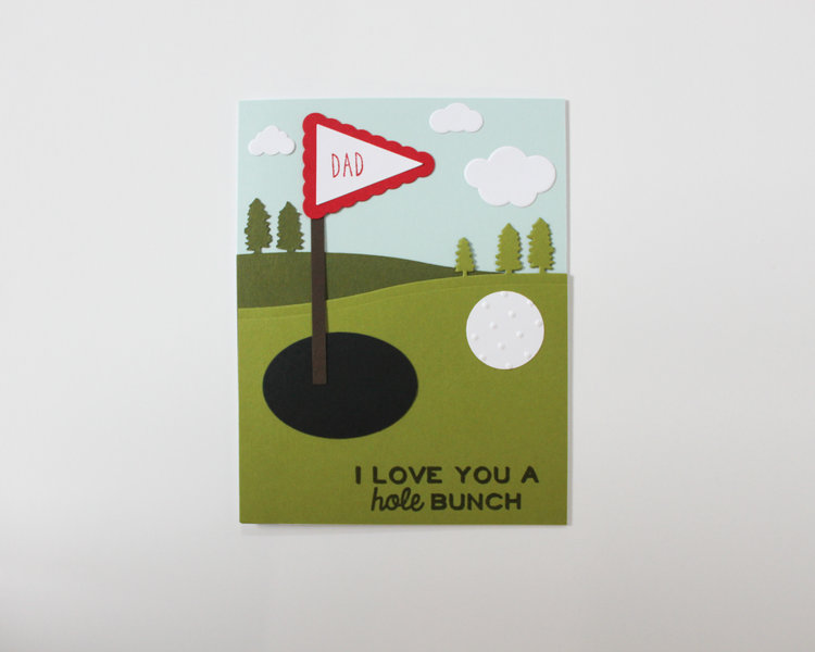www.ohsofancyparty.com hole-in-one-fathers-day-card