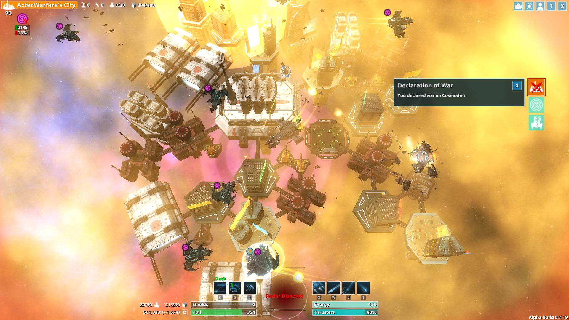 City Battle in Nebula