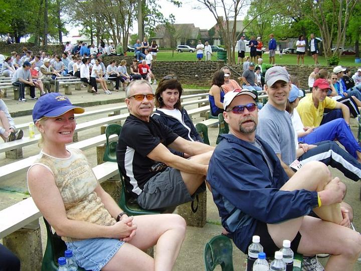 Gwen (left), Richard, Sandi, Steve, and Shawn (right) at the Tyler Azalea 10K Awards Ceremony (2007-03-24)