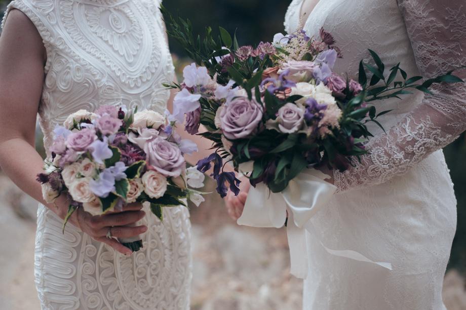 purple and blush fall wedding connecticut lgbtq parenthethis photo