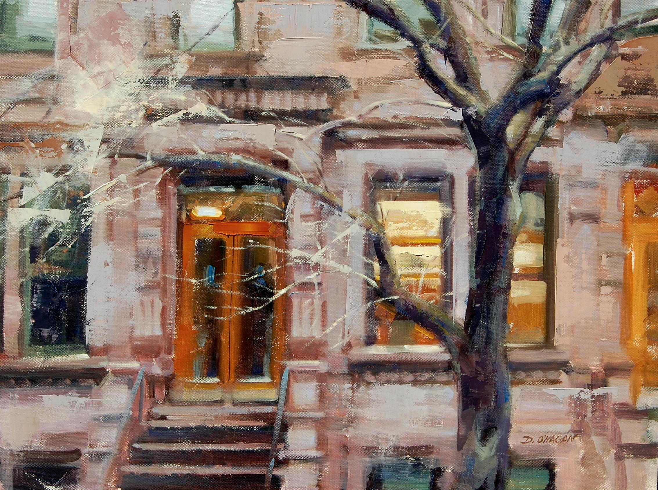 """Brownstones, NYC""</br>18"" x 24""</br>Oil"