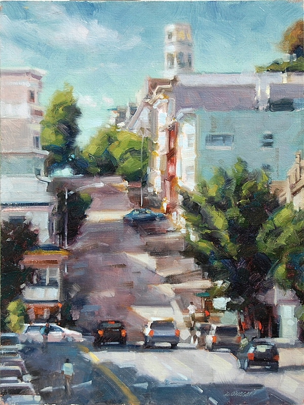 """Coit Tower, San Francisco""</br>18"" x 24""Oil"