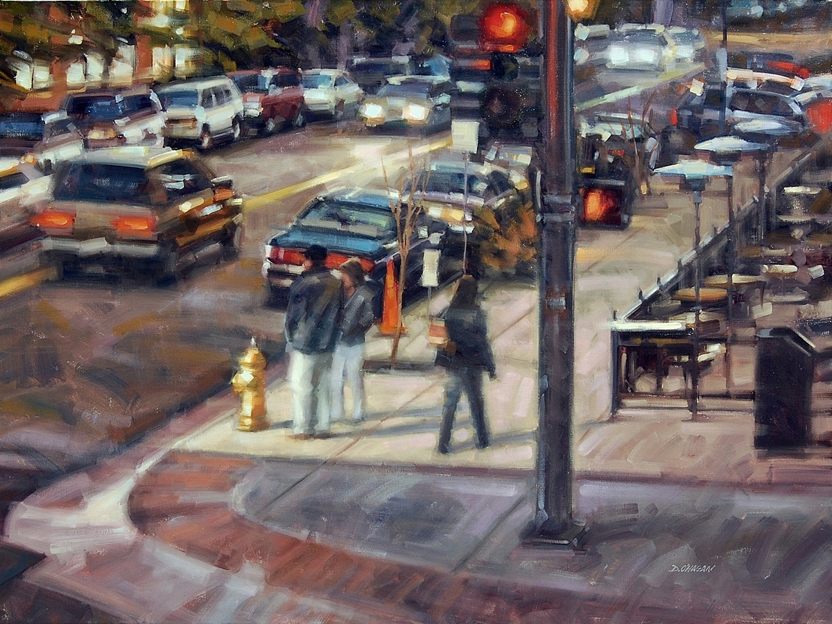 """Corner of 18th and Wazee, Denver""</br>36"" x 48"" </br>Oil"