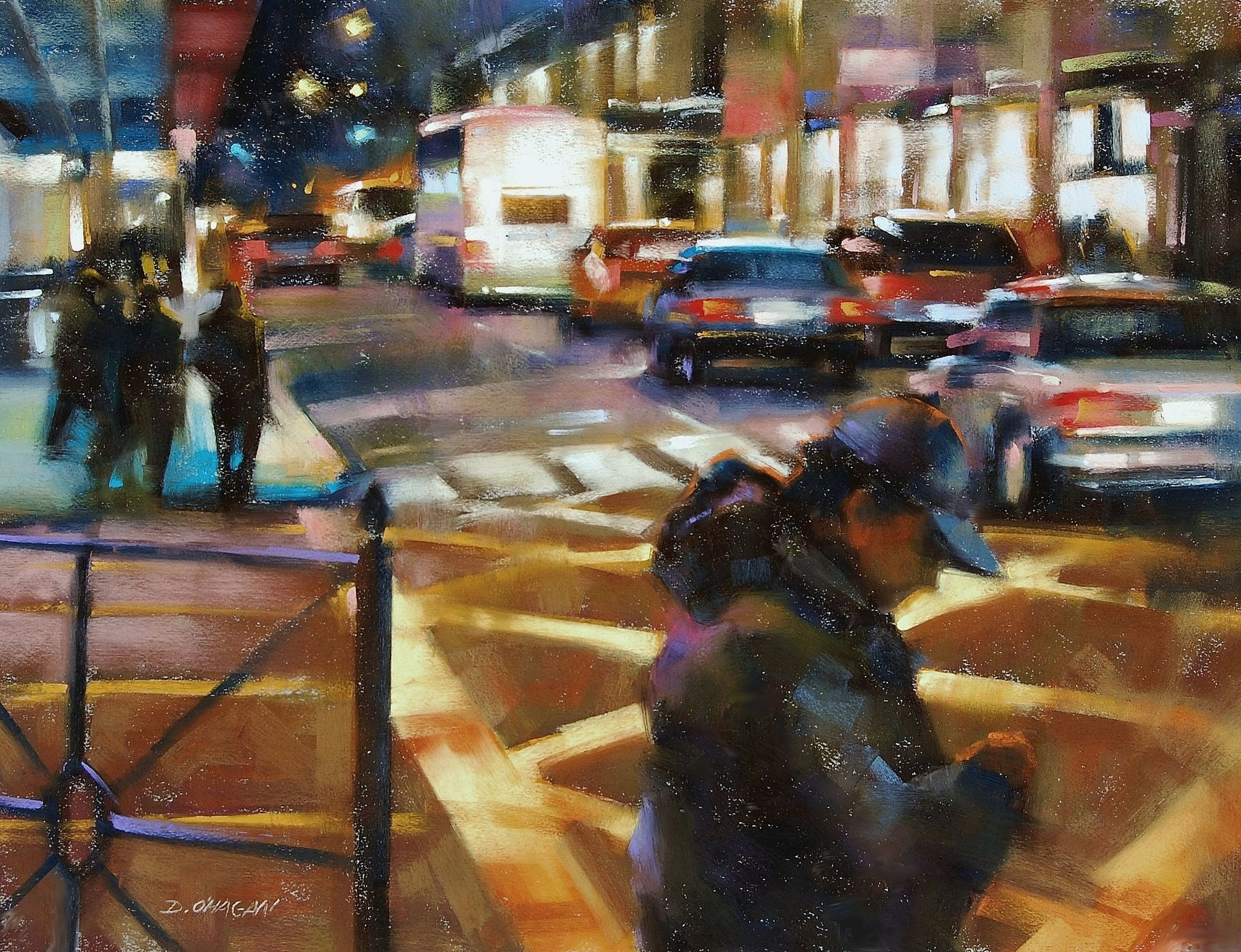 """City Lights, New York""</br>18"" x 24""</br>Pastel"