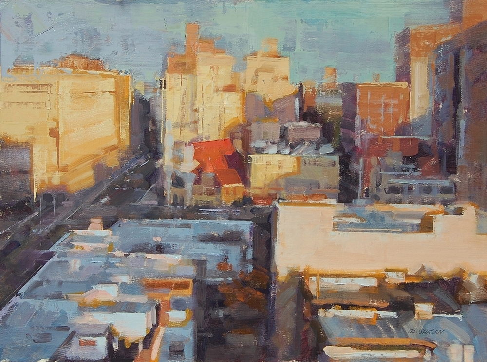 """Daybreak, Upper West Side""</br>18"" x 24""</br>Oil"