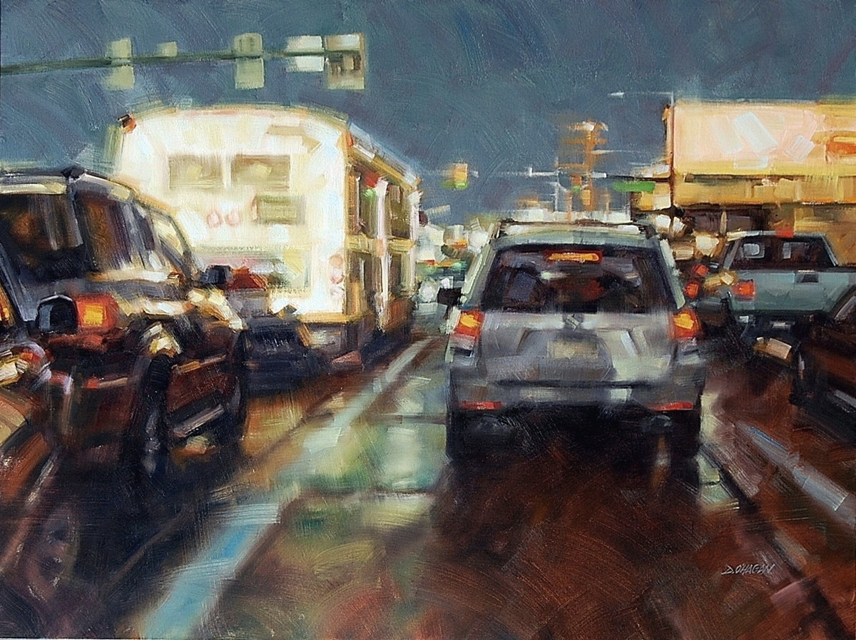 """East on Evans""</BR>36"" x 48""</BR>Oil"