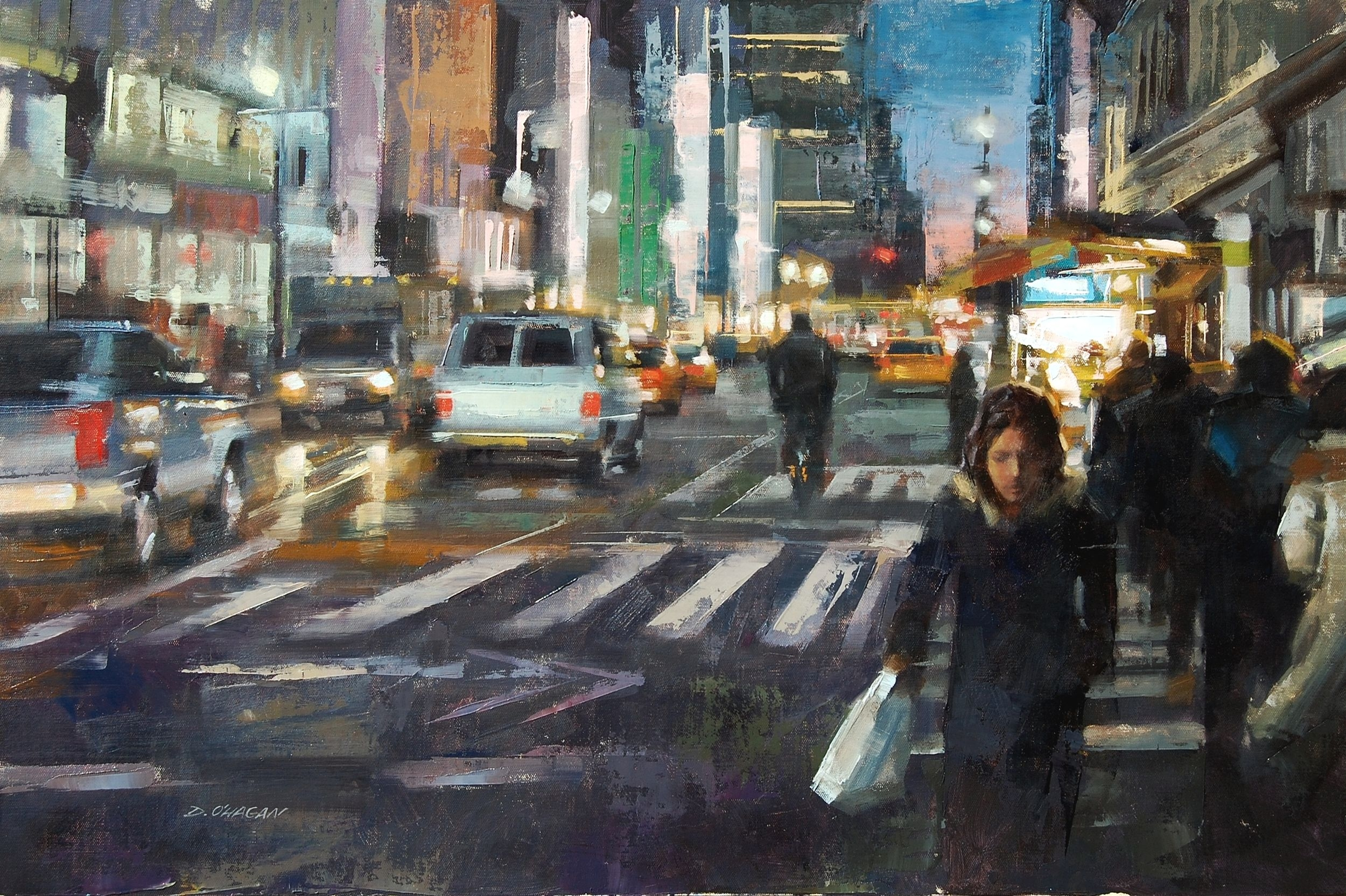 """Evening, NYC""</br>24"" x 36""</br>Oil"