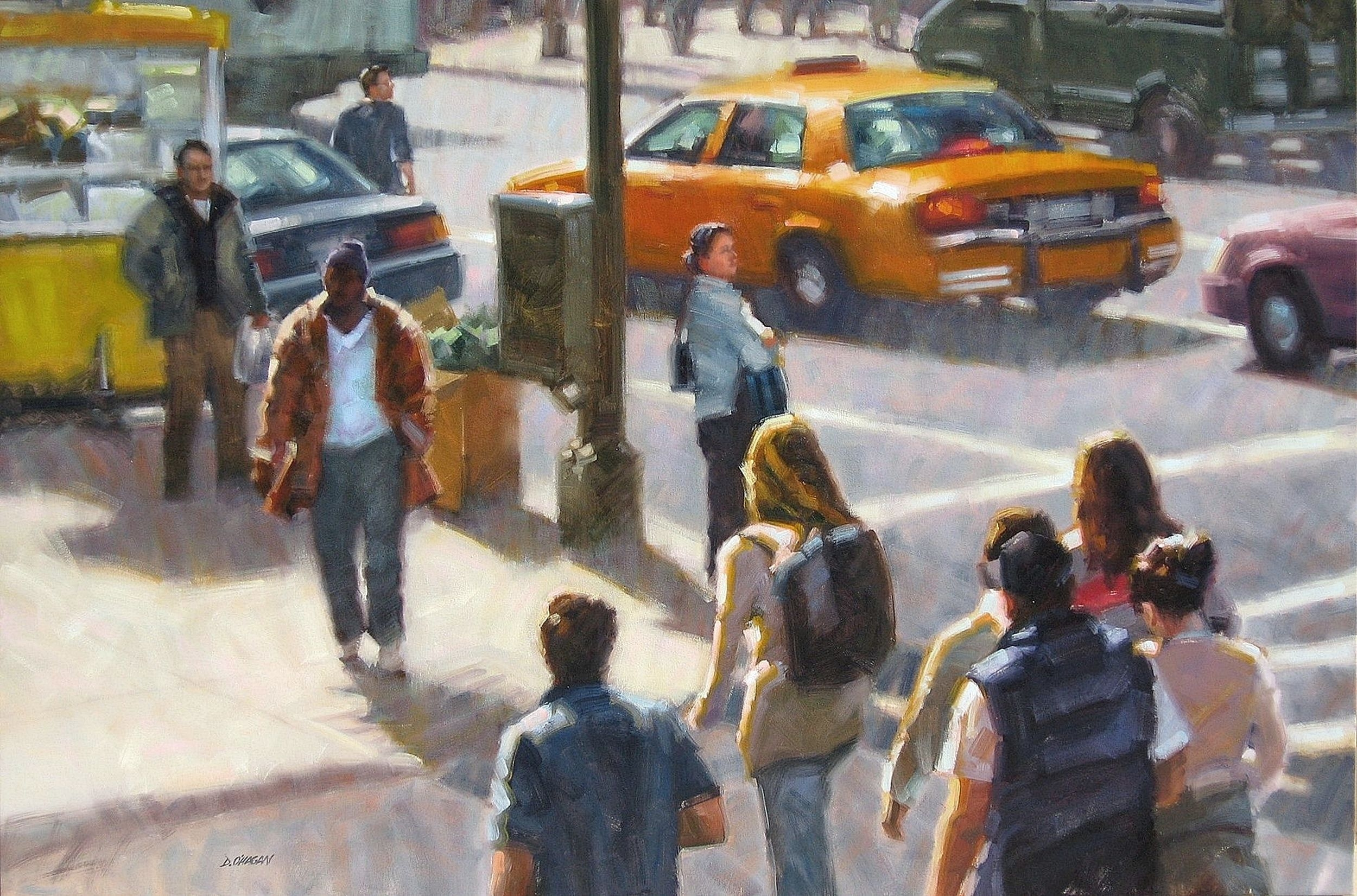 """New York Afternoon""</br>48"" x 72""</br>Oil"