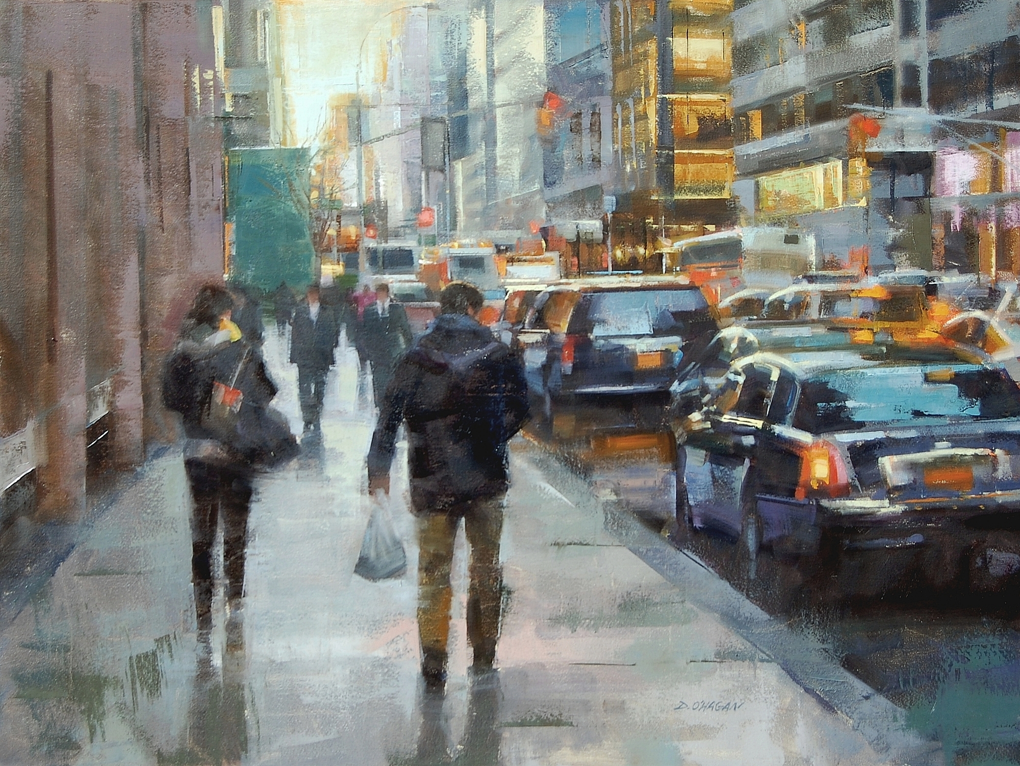 """New York City - Day""</BR>36"" x 48""</BR>Oil"