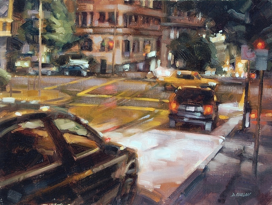 """Night Lights, San Francisco""</br>18"" x 24""</br>Oil"