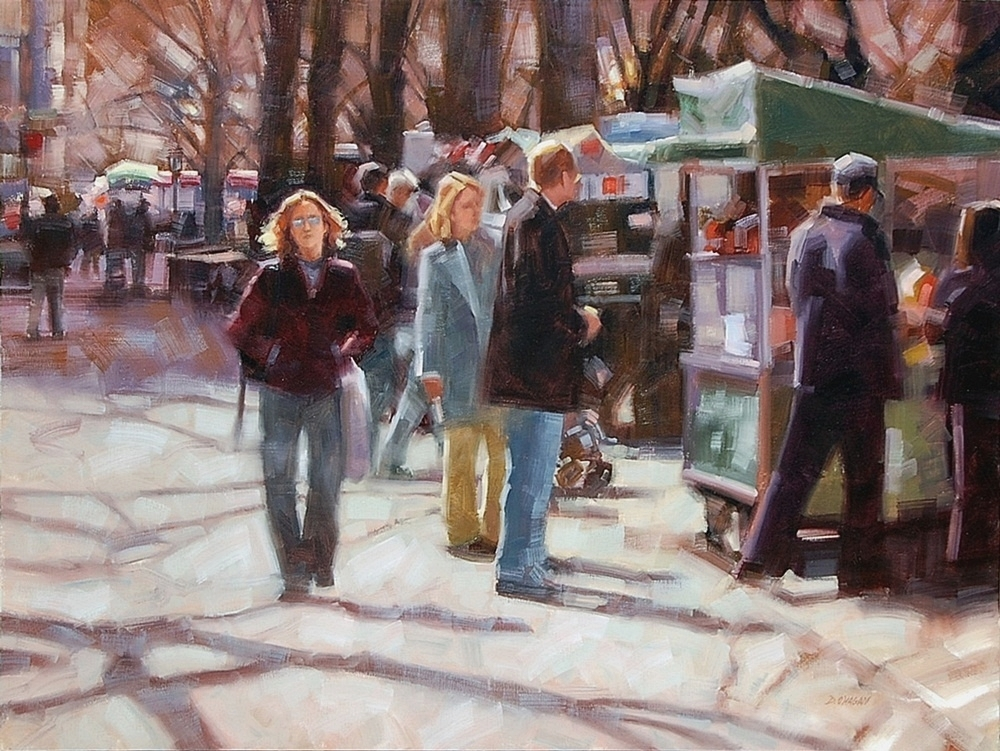 """November in the Park, NYC""</br>36"" x 48""</br>Oil"
