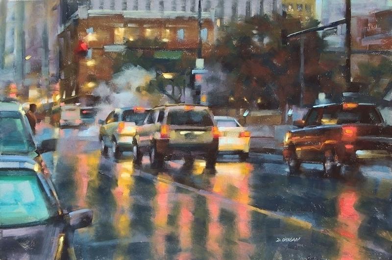 """""""September Rain, Denver""""</br>24"""" x 36""""</br>Pastel"""