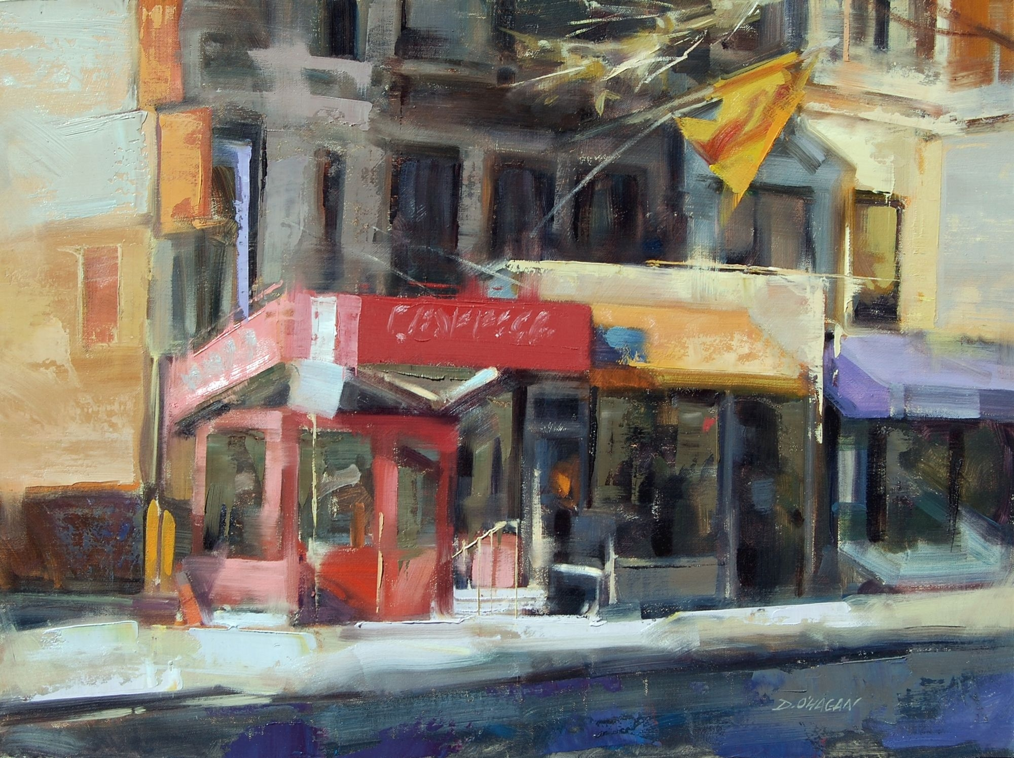"""Pizza, Upper West Side""</br>18"" x 24""</br>Oil"