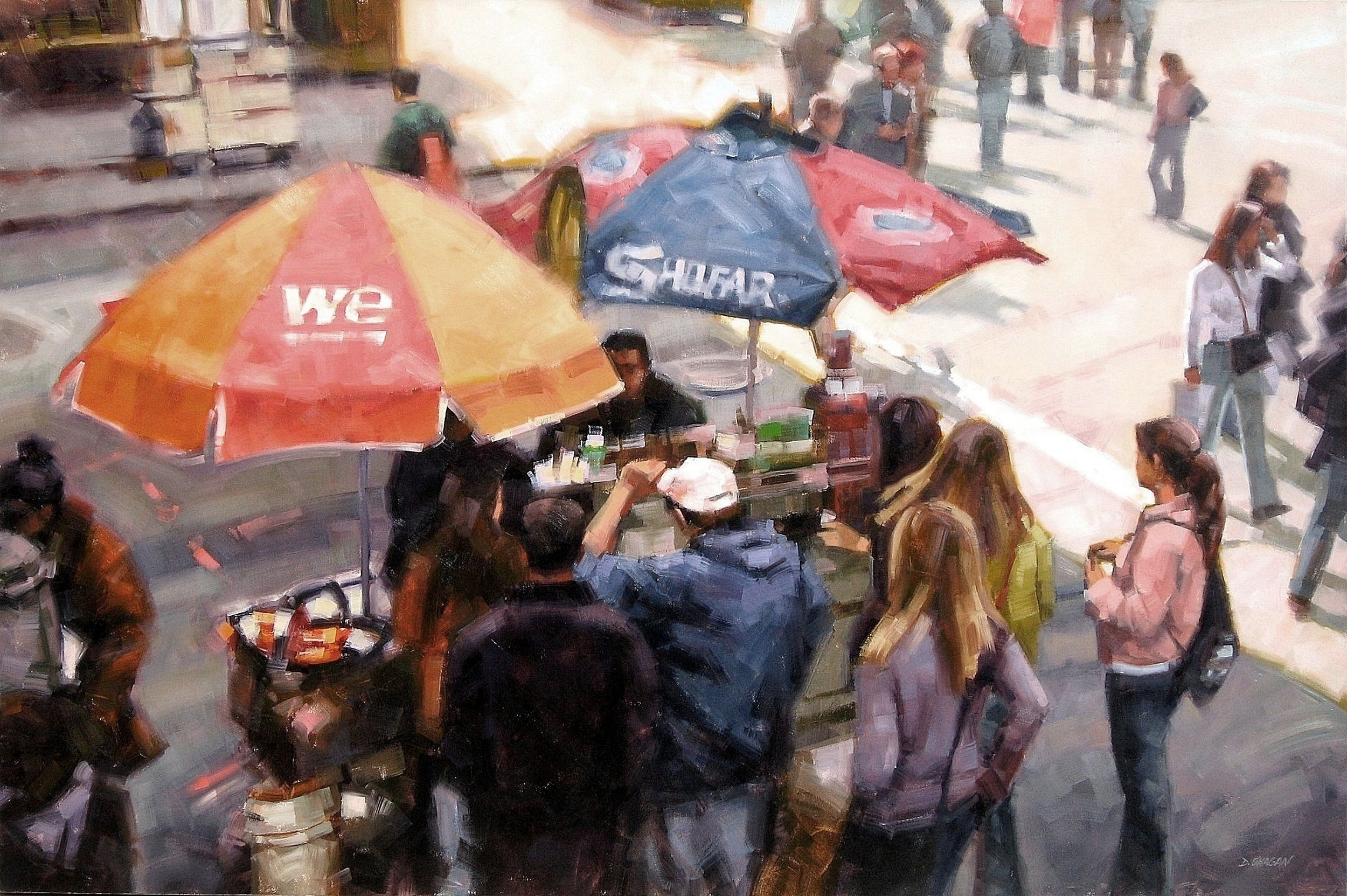 """Street Lunch NYC""</br>48"" x 72""</br>Oil"
