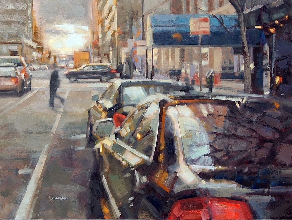 """Tremont and 17th, Denver""</BR>36"" x 48""</BR>Oil"