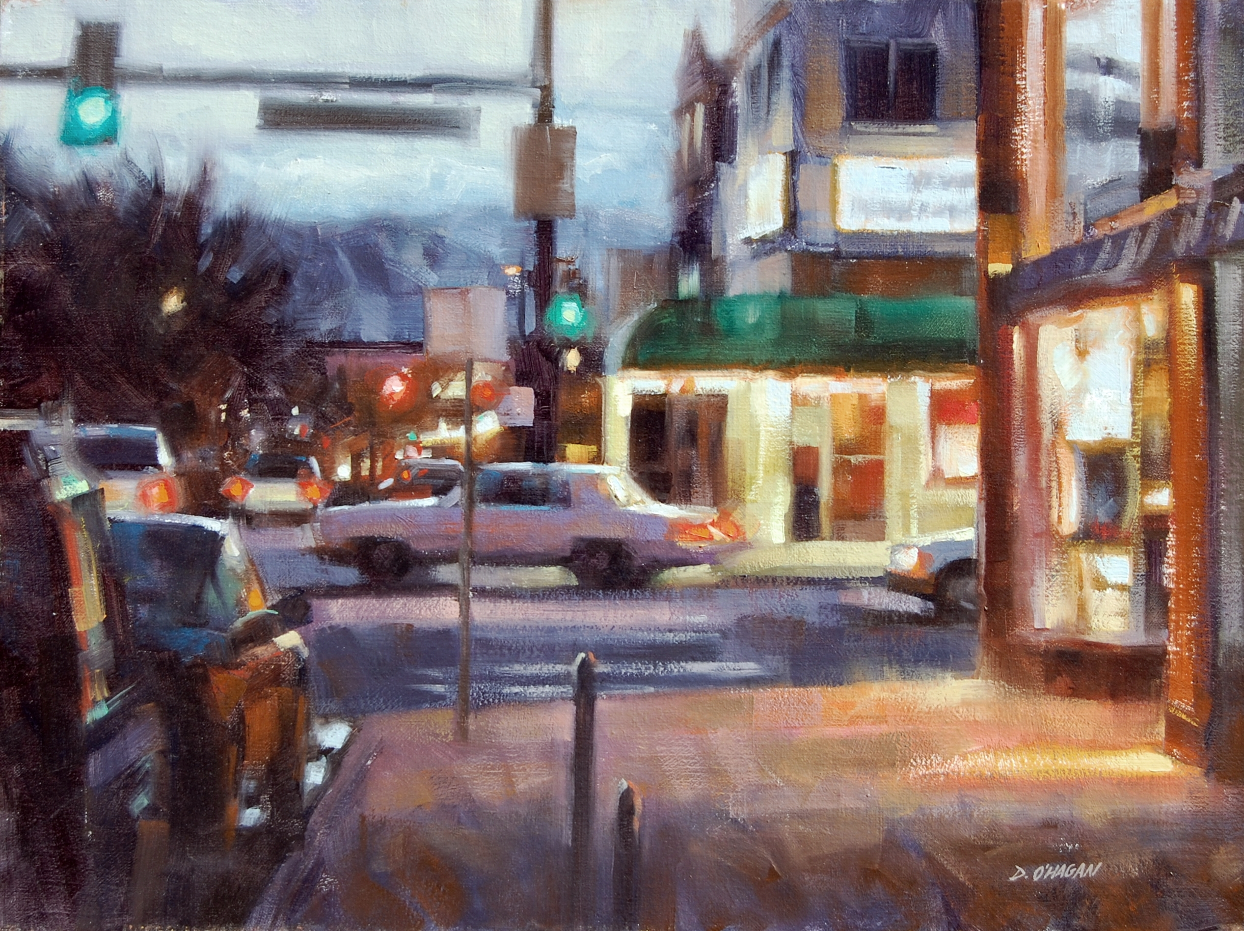 """University and Evans, Denver""</BR>18"" x 24""</BR>Oil"