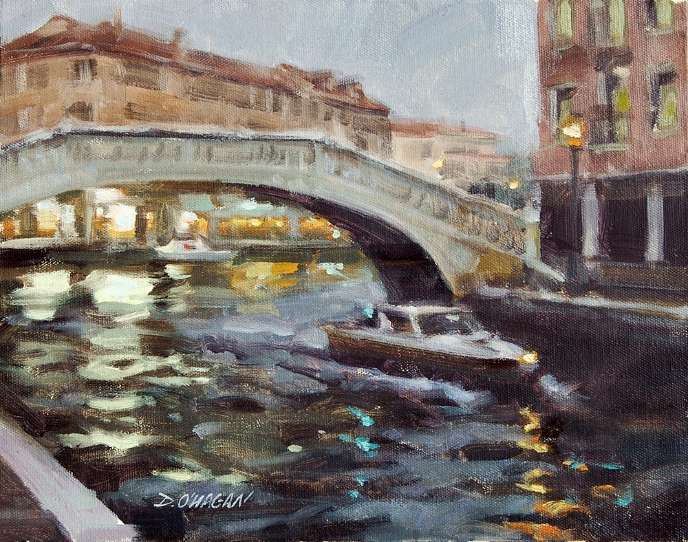"""Venetian Nightscape""</BR>11"" x  14""</BR>Oil"