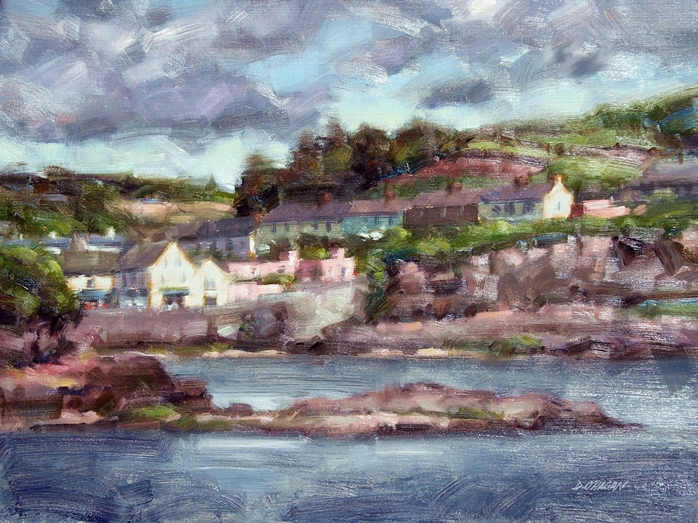 """View of Dunmore East, Ireland""</BR>18"" x 24""</BR>Oil"