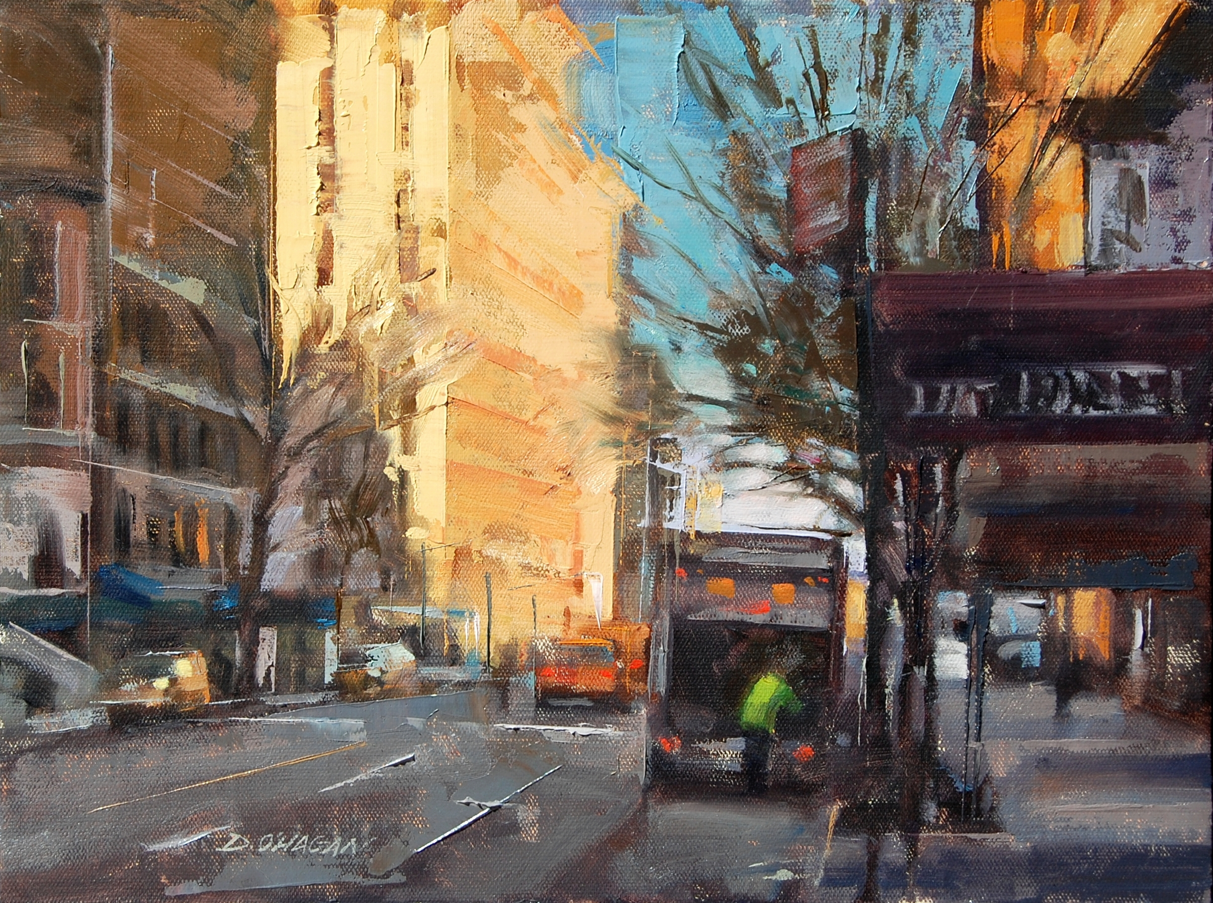 """West 79th, NYC""</BR>11"" x 14""</BR>Oil"