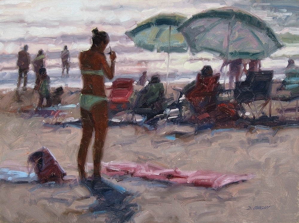 """""""Late Afternoon, Newport Beach""""</BR>18"""" x 24""""</BR>Oil"""