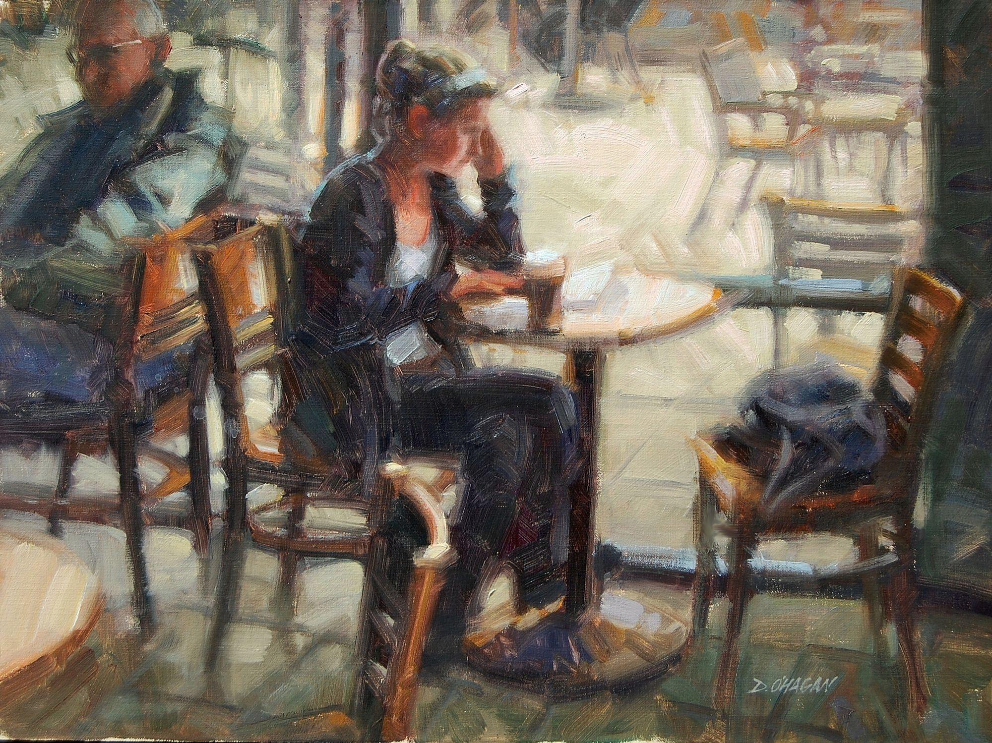 """Cafe at Noon""</BR>18"" x 24""</BR>Oil"