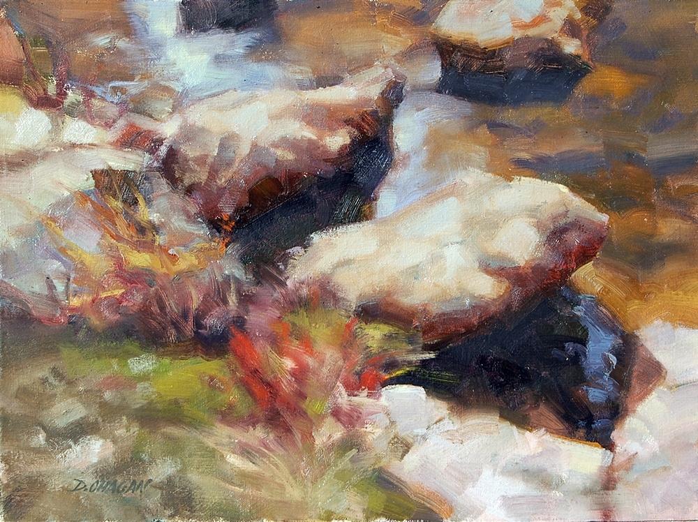 """Boulders"" </BR>12"" x 16""  </BR>Oil"
