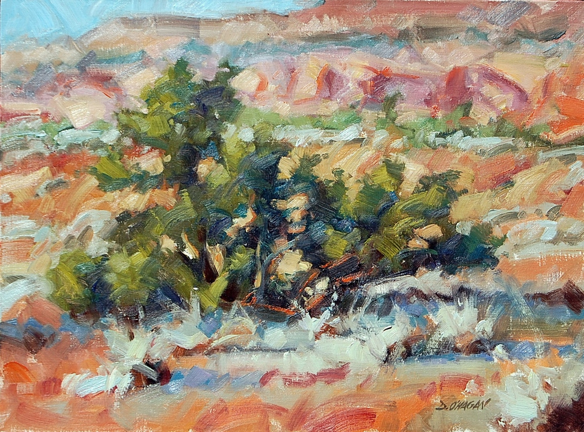 """""""Northern New Mexico""""  </BR>18"""" x 24""""   </BR>Oil"""