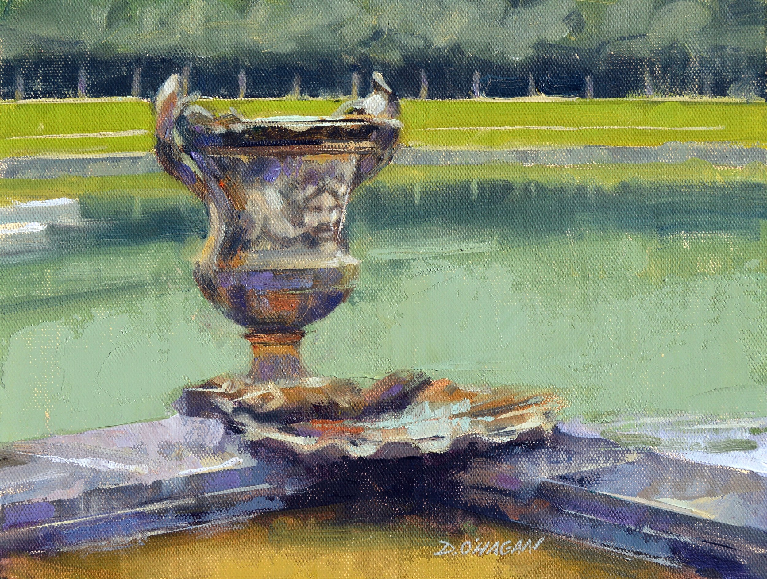 """Grounds of Versailles, France""<br>9""x 12""<br>Oil"