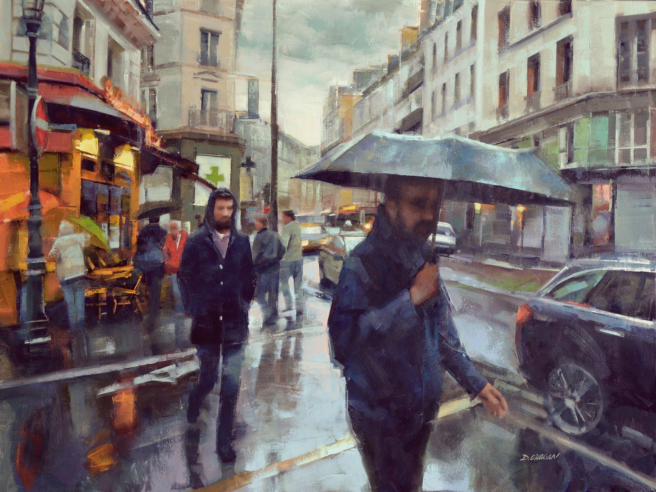 """Crosswalk, Paris""<br>36""x 48""<br>Oil"