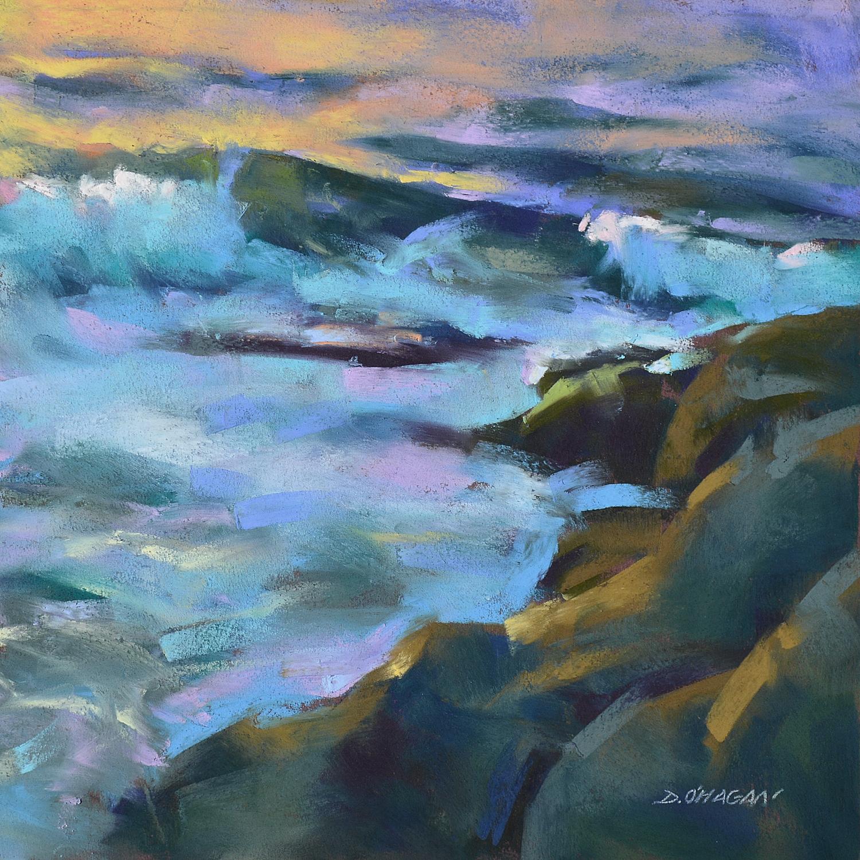 """Ocean Rhythms #4""  12""x 12""  Pastel"