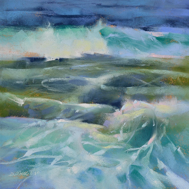 """Ocean Rhythms #6""  12""x 12""  Pastel"