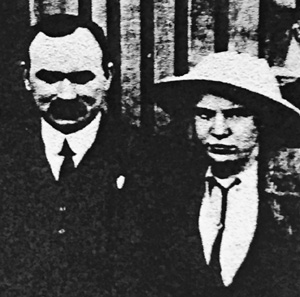 Lily and James Connolly, May 1914, Dublin.