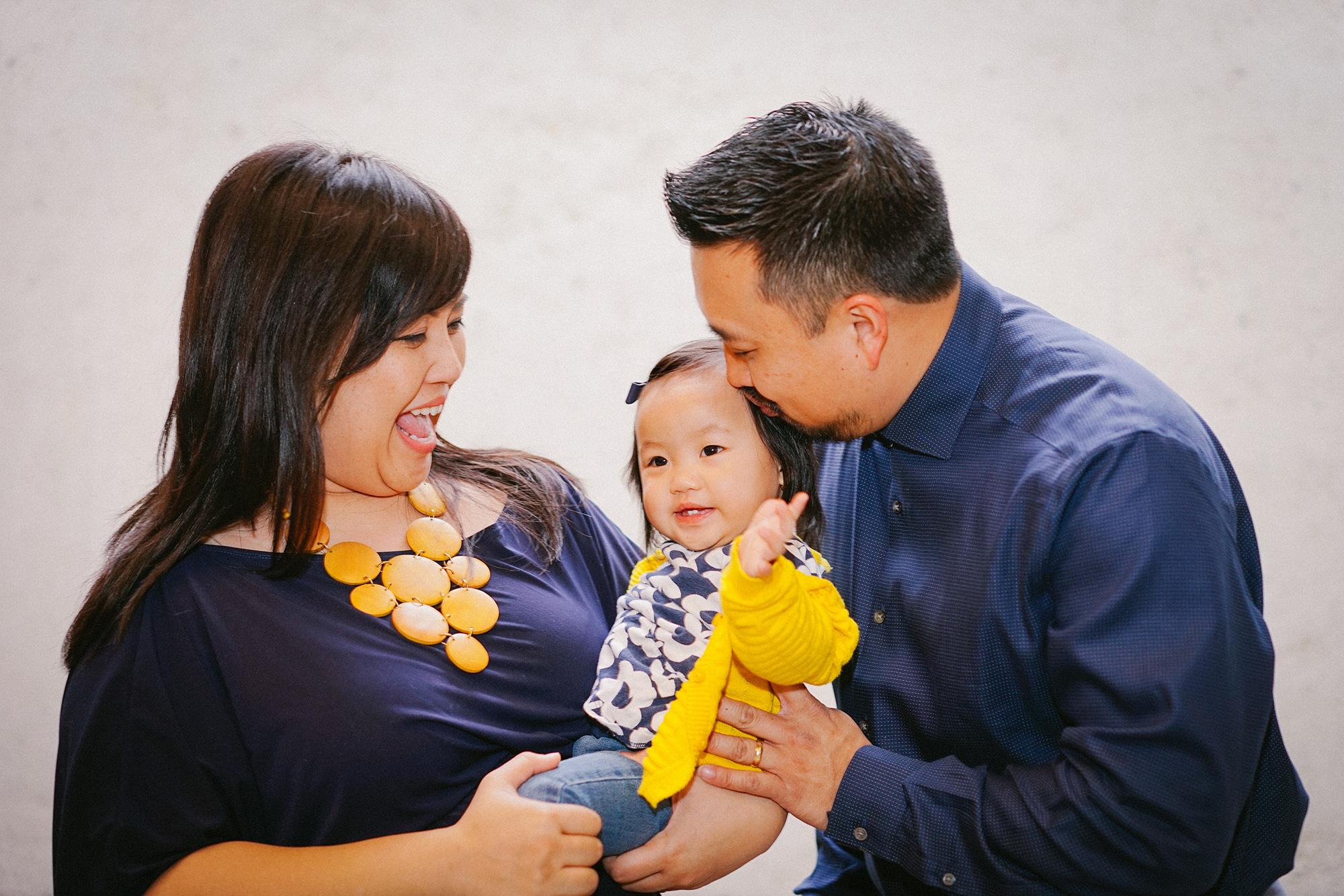 Naima and her adorable parents, Paula and Bing