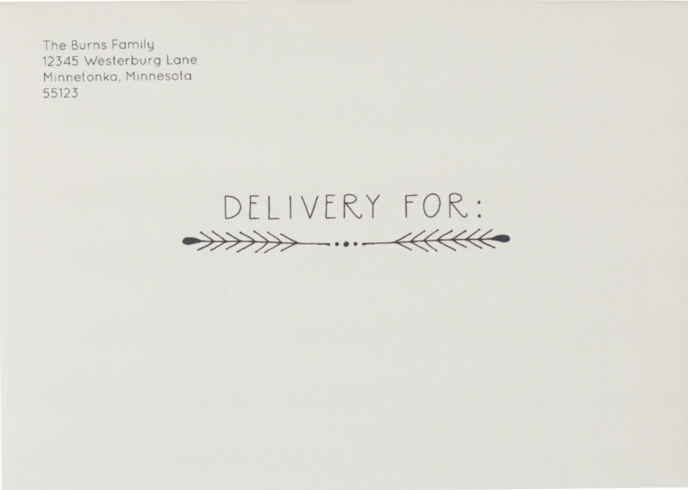 'Delivery For Sprig' on Cream Linen