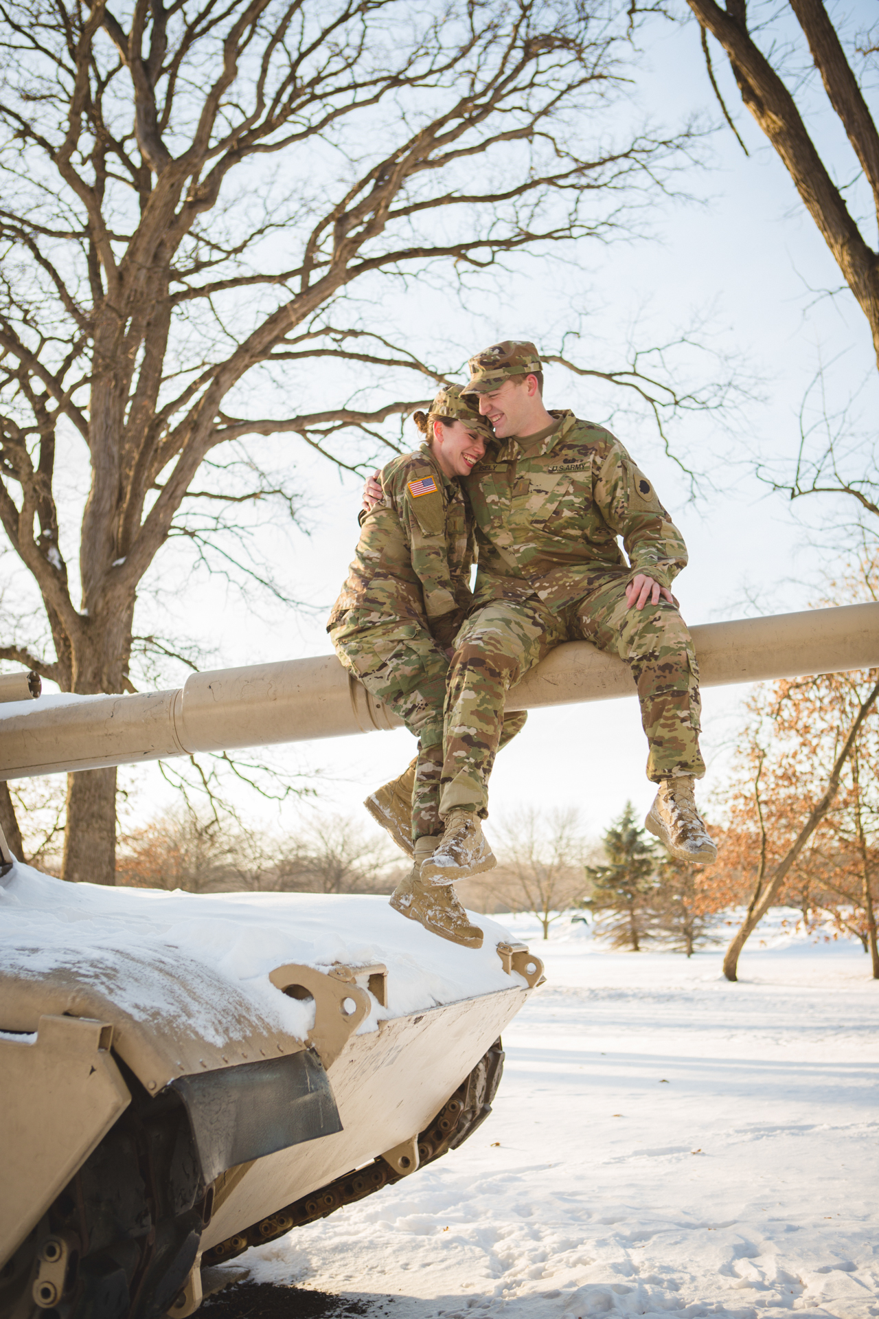 military engagement pictures cantigny wheaton illinois army national guard winter christmas snow batavia riverwalk riverfront-14.jpg