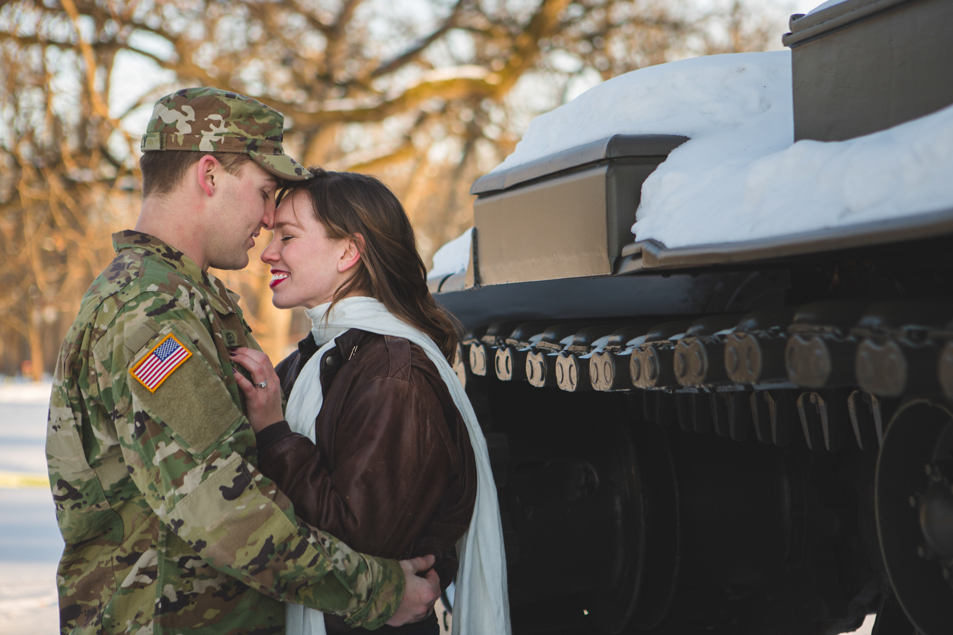 military engagement pictures cantigny wheaton illinois army national guard winter christmas snow batavia riverwalk riverfront-27.jpg