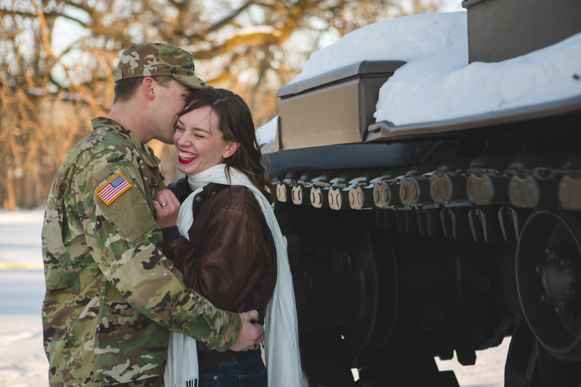 military engagement pictures cantigny wheaton illinois army national guard winter christmas snow batavia riverwalk riverfront-30.jpg