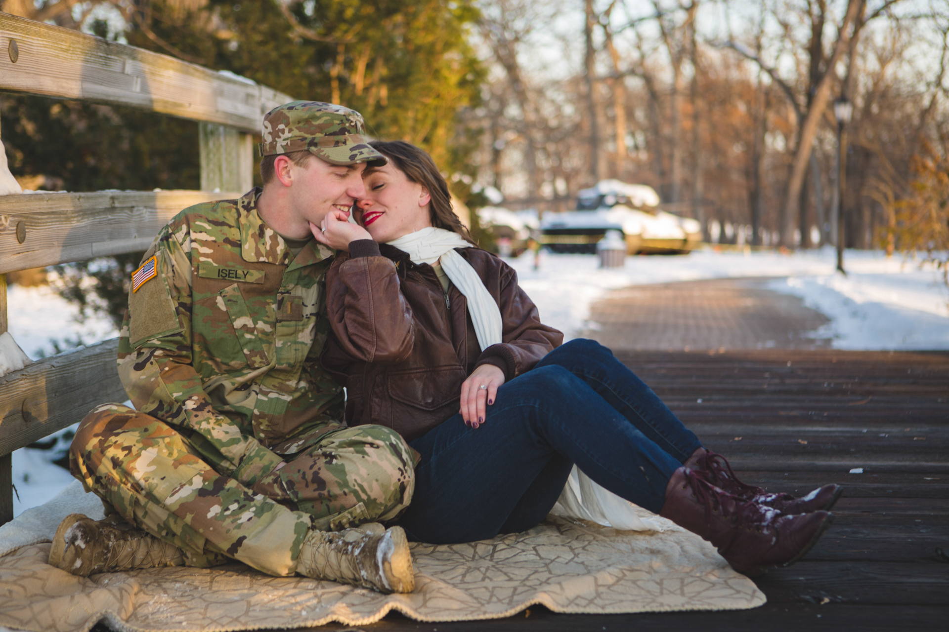 military engagement pictures cantigny wheaton illinois army national guard winter christmas snow batavia riverwalk riverfront-35.jpg