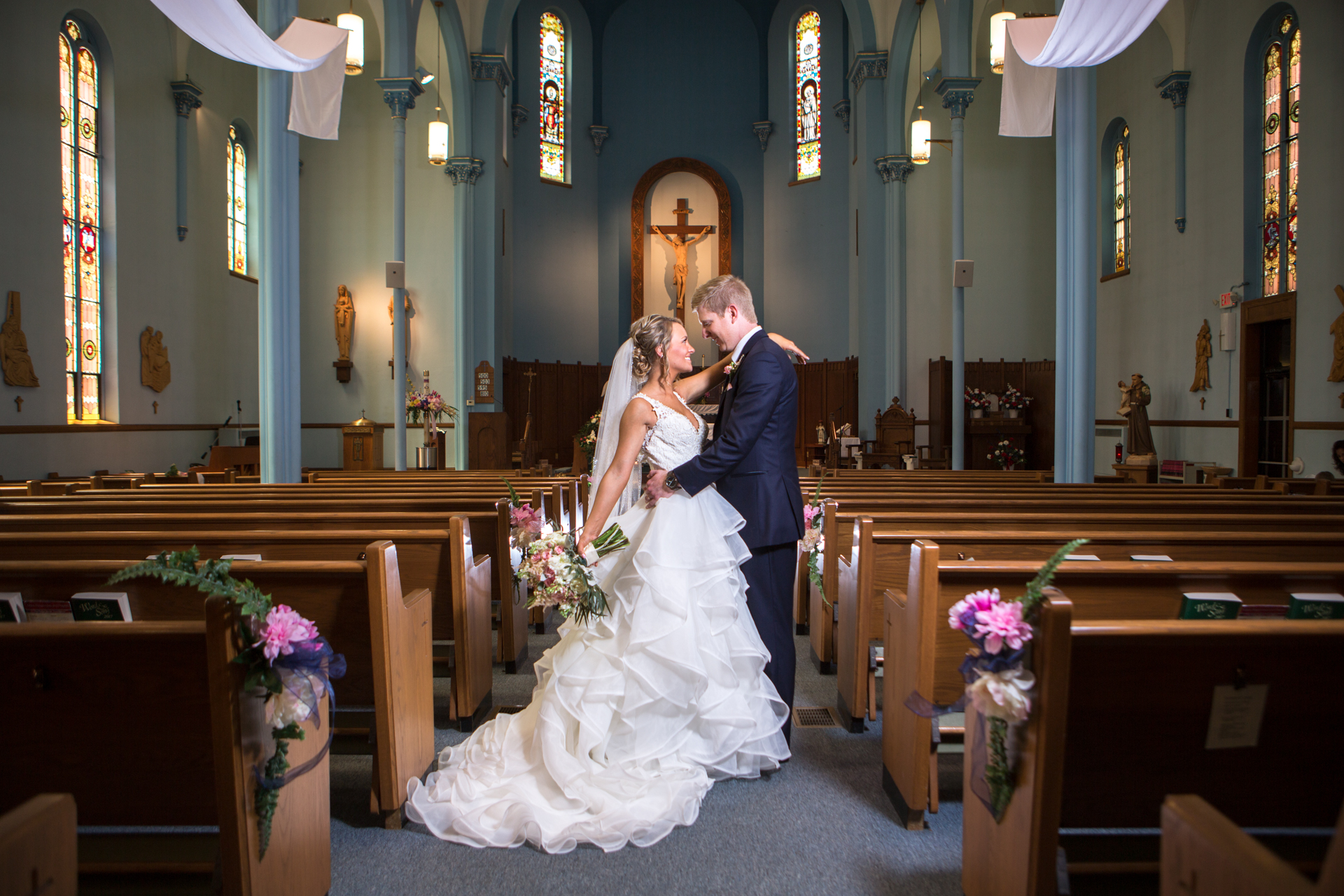 St. Patrick Catholic Church Minonk Packard Plaza Peoria Bloomington Normal Illinois Wedding Photographer Photographers Peoria Riverfront-001.jpg