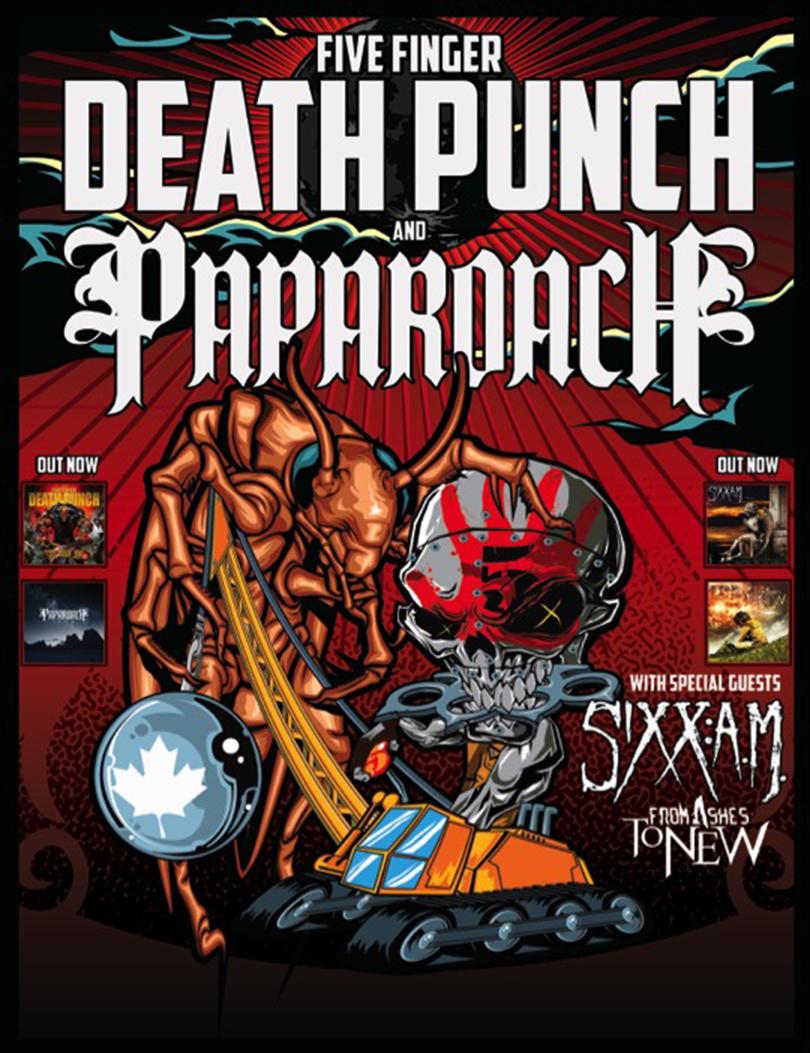 five finger death punch papa roach tour