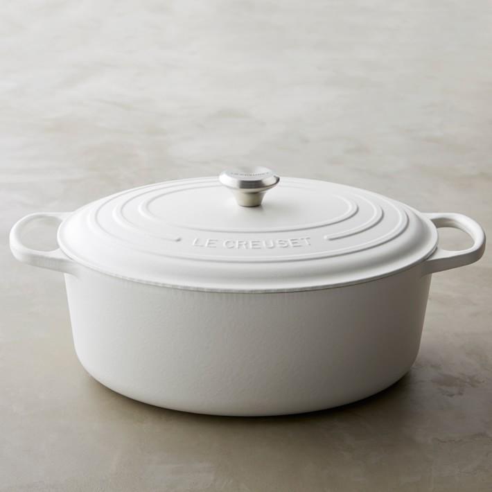 le creuset matte white dutch oven  williams-sonoma— 20% off